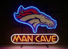 "Denver Broncos Man Cave Neon Lamp Sign 20""x16"" Bar Light Beer Display Windows"
