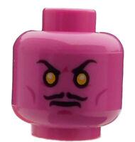 Lego 2 Stück Kopf in dunkel rosa zwei Gesichter Sinestro 3626cpb1269 Neu