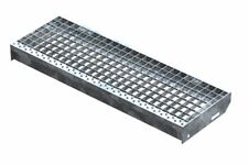 Gitterroststufe XSL Stahlstufe 800x270 mm 30/30 mm R11 Treppenstufe Stiege