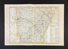 New Listing1901 Cram's Railway Atlas of Arkansas. Good condition - See Pics