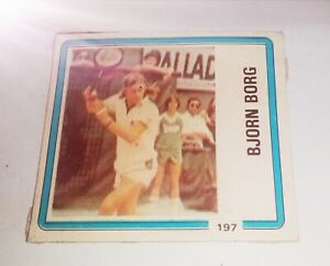 collectible card of the Great Swedish tennis player BJORN BORG