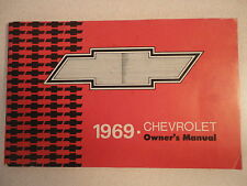 1969 Chevrolet Owner's Manual 69 Chevy OEM ORIGINAL FACTORY FREE US SHIPPING