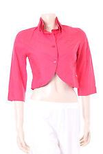 New Red Cotton Jacket Kokomarina Designer Ladies Top Size M Double Collar