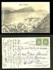 Aalesund Alesund photo postcard Møre og Romsdal Norway 2 stamps 1906