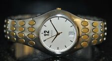 Alfex Swiss Silver Dial Two Tone Stainless Steel Watch