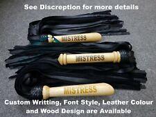Top Premium Quality Handmade Custom Leather Flogger Whip Adult Play Bullwhip