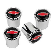 Chevrolet BOWTIE Logo Tire Valve Stem Caps USA Made Quality - RED