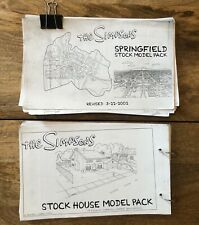 The Simpsons - Stock Model Packs - Television Animation Production Concept Art