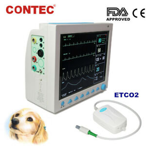 CONTEC CMS8000 Veterinary Vital Signs ICU CCU Patient Monitor+Capnograph CO2 VET