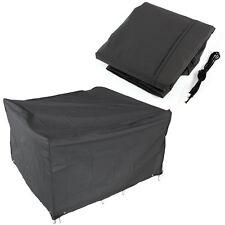 120x120x74cm Cubierta flexible para mesa Muebles de Jardín terraza Color Negro