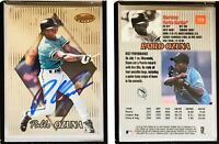 Pablo Ozuna Signed 1999 Bowman's Best #129 Card Florida Marlins Auto Autograph