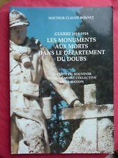 les monuments aux morts dans le département du Doubs guerre 1914 1918 C Bonnet