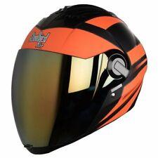 Steelbird Air Sba-2 Full Face Streak Matt Black Orange Motorcycle Helmet-Large