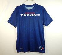 Houston Texans NFL Football Dri Tek Reebok T Shirt Size BOYS YOUTH LARGE 14 / 16