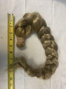 """wig human hair piece blond human hair braid antique piece long doll 23"""""""
