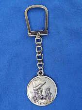 PORTE-CLES ANCIEN / Old key ring - GARAGE SUDRON GUERET - TOP !