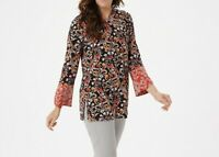 A368810 Susan Graver Printed Liquid Knit Tunic with Keyhole-602
