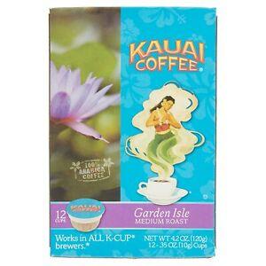 Kauai Coffee Garden Isle Keurig K-Cups, 12 Pods, Exp. 06/2021
