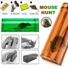 Indoor Outdoor Auto Mouse Trap Humane Live Catcher Rat Vermin Rodent Cage Trap