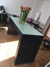 Designtisch,anthrazit mit Milchglasplatte, t58cm, h91cm, l180cm, Maßanfertigung