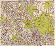 NW LONDON. Golders Green Hampstead Child's Hill Cricklewood. BACON 1959 map