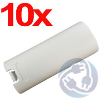 10x Replacement Battery Cover Shell Case Clip for Wii Remote Controller White