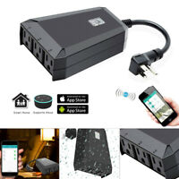 Sockets Outdoor Smart Plug Waterproof Wifi Outlet Power For Amazon Alexa Google