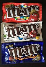Caramel M&M's, Peanut Butter M&Ms and White Chocolate MMs Sampler American Candy