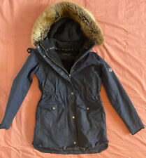 Women's Barbour Waxes Jacket - Navy Size 10