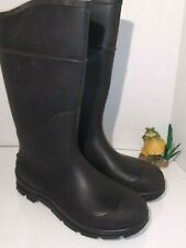 "Knee Boots ,16"" H,Black,Plain,PR HONEYWELL SERVUS  Mens Size 10"