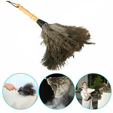 13inch Ostrich Duster Feather Dusters with Long Plastic Handle Cleaning Brush