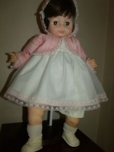 "1965 Large Vogue 22"" ~BABY DEAR ONE ~Sleep Eyes Doll ~NEW NO BOX ~Brunette-CRIES"