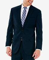 J.M. Haggar Mens Blazer Dark Navy Blue Size 44 Long Two-Button Notched $149 #183