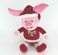 "Disney 21"" Winnie The Pooh Piglet Christmas Outfit Santa Hat Plush Toy"