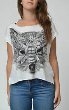 Animal Print Cotton Tops & Shirts for Women