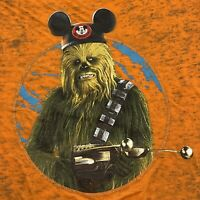 Disney Parks CHEWBACCA with MOUSE EARS size L T Shirt Ultra Thin Star Wars Large
