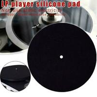 Turntable Platter Mat LP Player Record Silicone Pad Anti-Vibration Durable W8J5