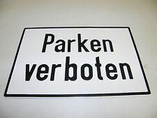 BLECHSCHILD - PARKEN VERBOTEN - 29x19,5cm HAUS SCHILD PARKVERBOT