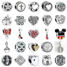 Silver Charms European 925 Pendant Sterling Bead fit for Bracelet Necklace SN-1