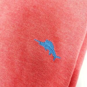 Tommy Bahama Relax Coral Zip 100% Cotton Sweatshirt Xl MSRP $118