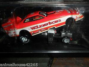 1997 RCCA Whit Bazemore Winston Funny Car 1/64 scale & display case real riders