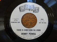 BOBBY POWELL-CRY TO ME/THERE IS SOMETHING IN A MAN WHIT WLP 45 RPM NORTHERN SOUL