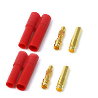 2 Pairs 4mm Gold-plated Banana Plug Motor Electronic Male & Female Connector