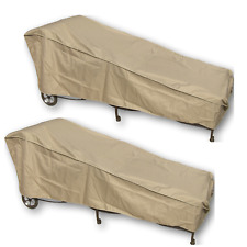 "Premium Outdoor Patio Chaise Lounge Chair Cover - 2 Pack - Fits up 84"" L"