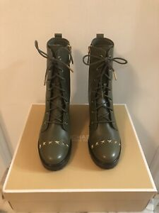 Michael Kors Cody Leather Star Studded Boots