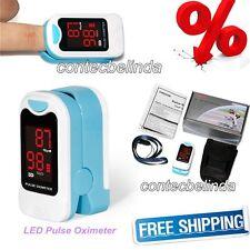 LED Finger Fingertip Pulse Oximeter, Blood Oxygen Monitor,Free Case, Lanyard CE
