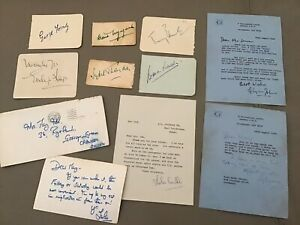 Vintage Hand Signed Film Autographs