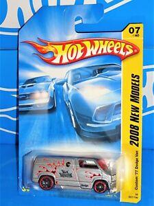 Hot Wheels 2008 New Models #7 Custom '77 Dodge Van Gray w/ OH5SPs