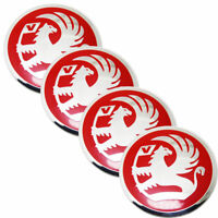 4 Pcs 56mm Red Stickers Caps Centre Hub Wheel Cap Decal Emblems For All Model