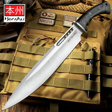 "19"" Honshu Boshin Toothpick Knife Tactical Hunting Bowie Fixed Blade w/ Sheath"